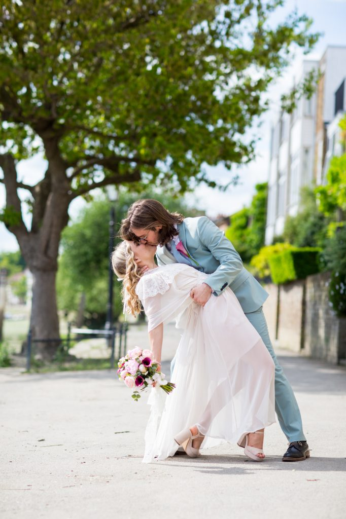 Bride and Groom portrait shot in London
