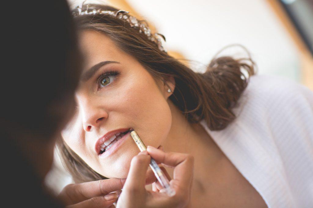 Wedding makeup photo at wedding preparation