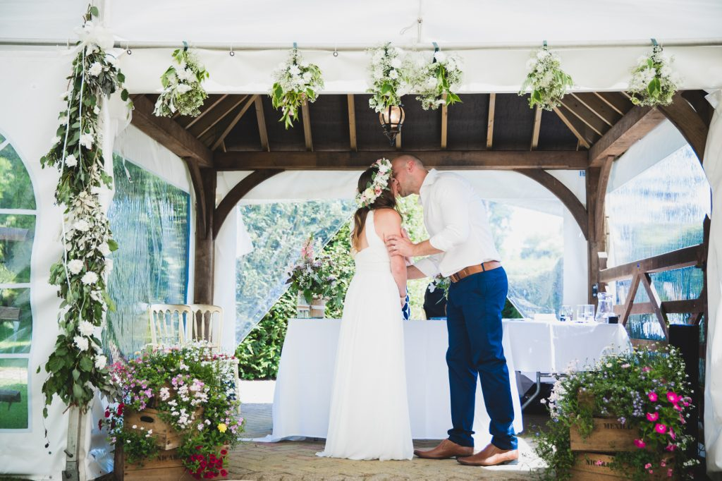 you may now kiss the bride at brewerstreet farmhouse